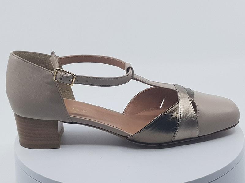 Sandales 28616 beige-or